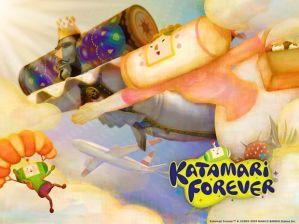 """Scene from the video game """"Katamari Forever"""""""