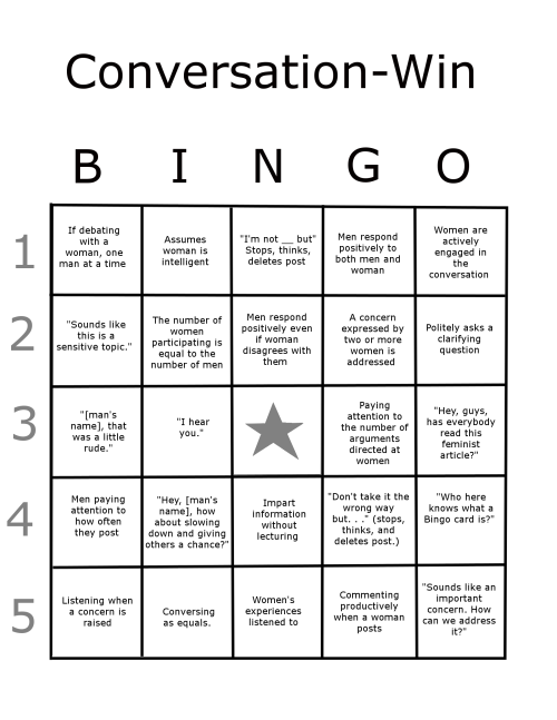 A companion to the Conversation-Fail Bingo Card