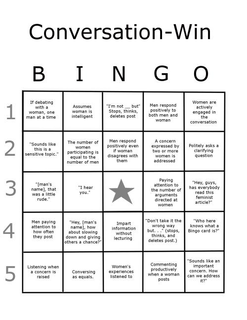 A companion to the Conversation-Fail Bingo Card