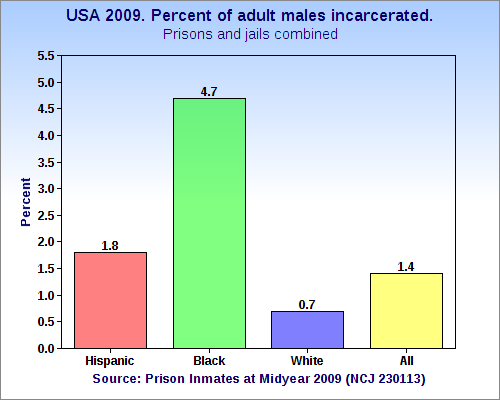 USA_2009._Percent_of_adult_males_incarcerated_by_race_and_ethnicity